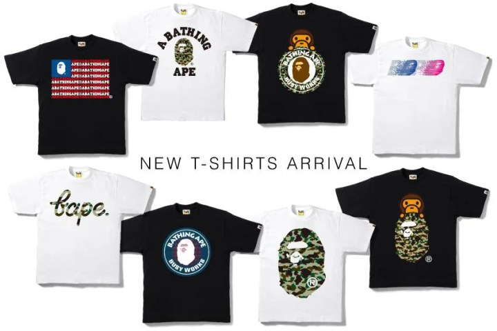 7/25発売!エイプ (A BATHING APE)から各種アイテム「TEE」「DAMAGE DENIM PANTS」「ABC KLEAN KANTEEN」