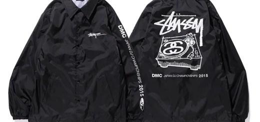 ステューシー (STUSSY) × DMC JAPANとのコラボアイテム「DMC JAPAN DJ CHAMPIONSHIPS 2015 TEE & Coach Jacket」が登場!