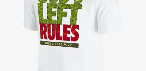 【NIKE限定先行販売】WBC世界バンタム級王者 山中慎介 × ナイキ「GOD'S LEFT RULES TEE」が発売! [839206-100]