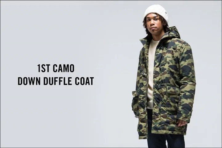 11/21からA BATHING APE 「M-65 JACKET」「1ST CAMO DOWN DUFFLE COAT」が発売! (エイプ)