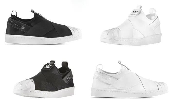 2016年 春夏モデル!アディダス オリジナルス レディース スーパースター スリップオン (adidas Originals Superstar Slip On W White/Black) [S81337,8]