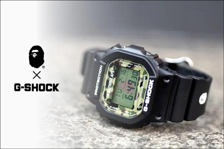 2/6発売!A BATHING APE × G-SHOCKのコラボ「DW-5600E-1」が登場! (エイプ ジーショック)