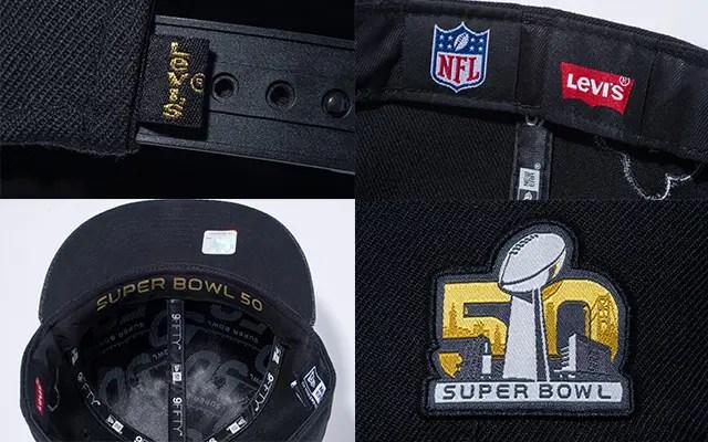 New Era × Levi's!NFLの優勝決定戦であるスーパーボウルの50回大会記念キャップ「NFL Super Bowl 50」が発売! (ニューエラ リーバイス)