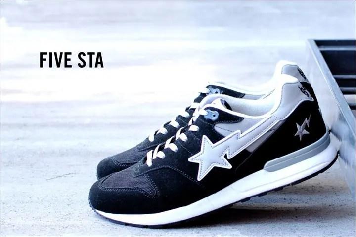 A BATHING APEから軽い履き心地と高いファッション性を実現した「FIVE STA LT」が2/20発売!(エイプ)