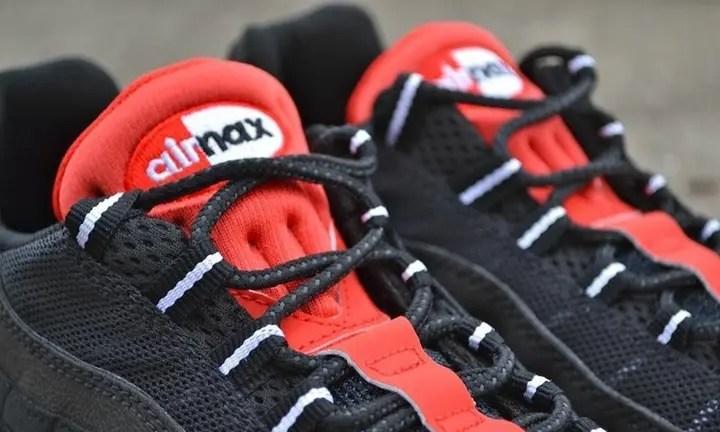 """海外展開!ナイキ エア マックス 95 エッセンシャル """"ブラック/チャレンジ レッド"""" (NIKE AIR MAX 95 ESSENTIAL """"Black/Challenge Red"""")"""