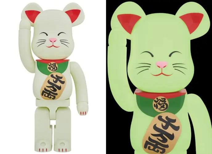 ソラマチ限定!光る70cmの招き猫 1000% BE@RBRICKが5/21から店舗限定で発売! (ベアブリック)