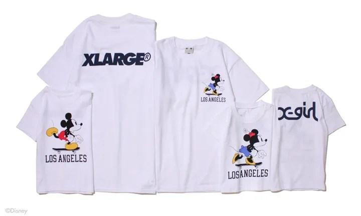 X-large/X-girl IKSPIARI LIMITED ITEMSが7/1発売!スケボーに載っているミッキーミニー グラフィック (エクストララージ エックスガール)