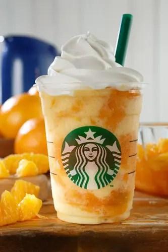 スタバからレンジの果肉感を贅沢に味わえるジューシーなフラペチーノ「クラッシュ オレンジ フラペチーノ」が7/15から発売! (STARBUCKS スターバックス)