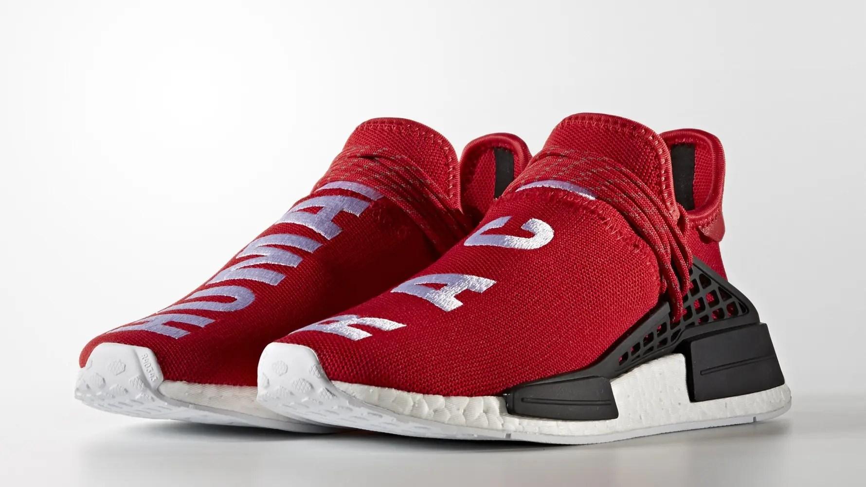 """【オフィシャルイメージ】Pharrell Williams x adidas Originals NMD_R1 """"HUMAN RACE"""" Red/Green (ファレル・ウィリアムス アディダス オリジナルス エヌ エム ディー アール ワン """"ヒューマン レース"""" レッド/グリーン) [BB0616,BB0620]"""