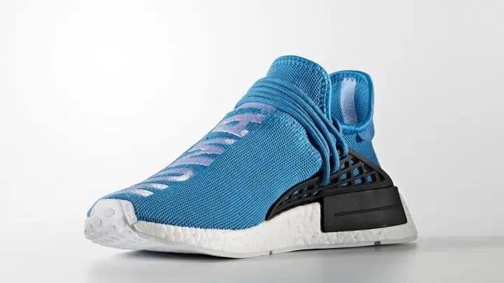 """【オフィシャルイメージ】Pharrell Williams x adidas Originals NMD_R1 """"HUMAN RACE"""" Blue (ファレル・ウィリアムス アディダス オリジナルス エヌ エム ディー アール ワン """"ヒューマン レース"""" ブルー) [S79169]"""