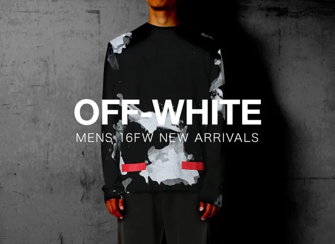 OFF-WHITE C/O VIRGIL ABLOH MENS 2016 A/W コレクション 2nd デリバリー! (オフホワイト)