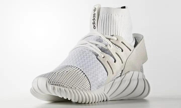 """9/9発売!新色 adidas Originals TUBULAR DOOM PRIMEKNIT {PK} """"Core Black/Vintage White"""" (アディダス オリジナルス チュブラー ドゥーム プライムニット """"コアブラック/ビンテージホワイト"""") [S80508,9]"""