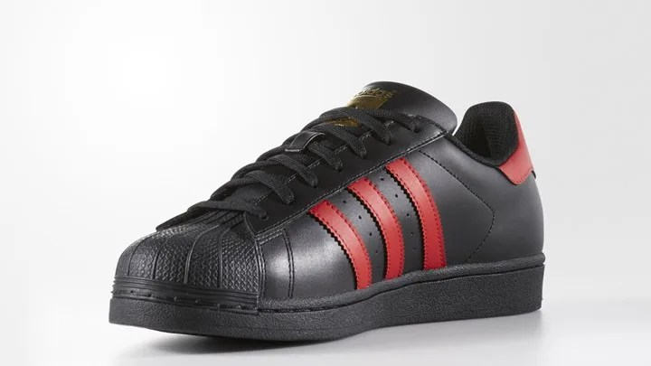 """海外展開!adidas Originals SUPERSTAR """"Core Black/Light Scarlet"""" (アディダス オリジナルス スーパースター """"コア ブラック/ライト スカーレット"""") [S80694]"""