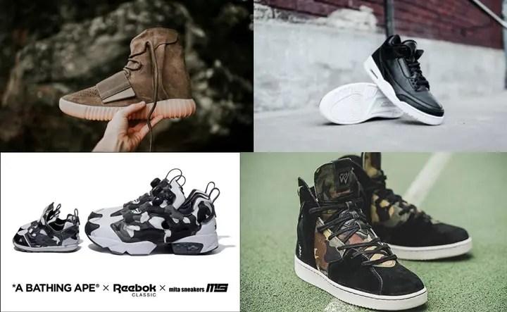 """【まとめ】10/15発売の厳選スニーカー!(adidas Originals YEEZY 750 BOOST)(NIKE AIR JORDAN 3 RETRO """"BLACK/WHITE"""")(A BATHING APE × mita sneakers × REEBOK INSTA PUMP FURY """"City Camo"""")(NIKE JORDAN WESTBROOK 0.2 """"Black/Sail"""")他"""