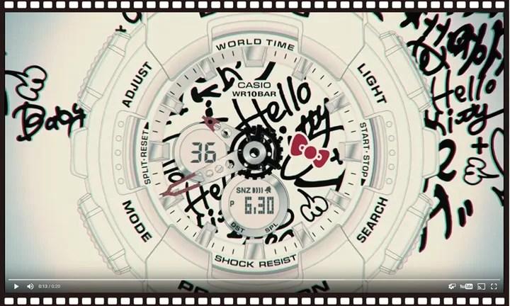 BABY-G × HELLO KITTYとのコラボモデルが2016年末に発売決定!70sに流行した「Street Graffiti Art」がテーマ! (ベイビージー ハローキティ)
