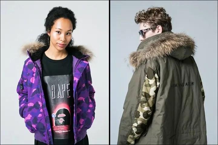 A BATHING APEから防寒性とファッション性を両立させたモッズコート/COLOR CAMO柄で仕上げたN-2Bが11/12発売! (ア ベイシング エイプ)