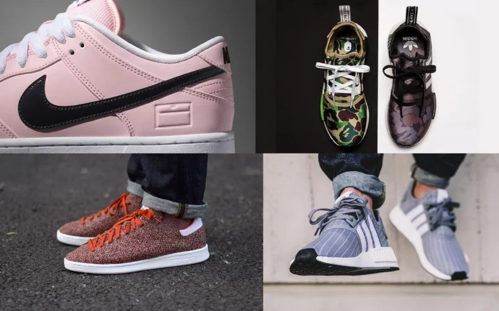 "【まとめ】11/26発売の厳選スニーカー!(NIKE DUNK SB LOW ""Pink Box"")(adidas Originals NMD_R1 × A BATHING APE)(BEDWIN & THE HEARTBREAKERS NMD_R1)他"