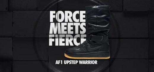 """12/18発売!ナイキ ウィメンズ エア フォース 1 アップステップ ウォリアー """"ブラック/ガム"""" (NIKE WMNS AIR FORCE 1 UPSTEP WARRIOR """"Black/Gum"""") [860522-001]"""