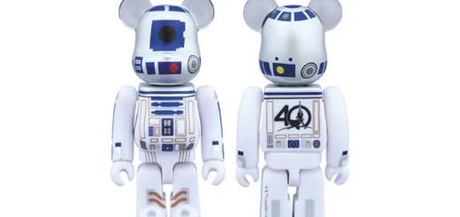 STAR WARS 40周年記念バージョンのR2-D2 BE@RBRICK 100%が4/29発売! (ベアブリック スターウォーズ)