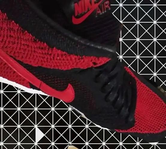 """9月発売予定!ナイキ エア ジョーダン 1 レトロ ハイ フライニット """"ブラック/バーシティー レッド"""" (NIKE AIR JORDAN 1 FLYKNIT RETRO HIGH """"Black/Versity Red"""") [919704-001]"""