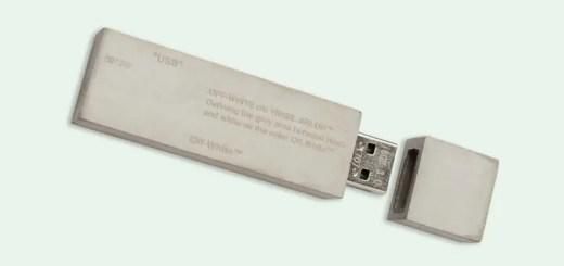 コンクリート製のOFF-WHITE C/O VIRGIL ABLOH USBメモリ (オフホワイト)