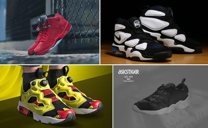 "【まとめ】7/1発売の厳選スニーカー!(NIKE AIR JORDAN 5 RETRO FLIGHT SUIT ""University Red"")(AIR MAX 2 UPTEMPO 94 ""Duke"")(REEBOK INSTA PUMP FURY OG ULTK)(ASICS TIGER GEL-MAI ""黒豹"" ""mita sneakers"")他"