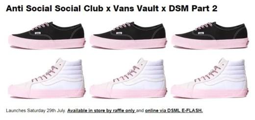 第2弾!VANS × Anti Social Social Club × DSM トリプルコラボ (バンズ アンチ ソーシャル ソーシャル クラブ ドーバーストリートマーケット)