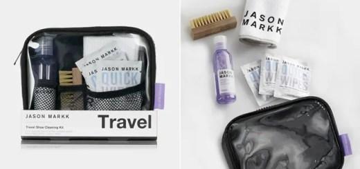 旅行先や外出先などで手軽かつ本格的にスニーカーのクリーニングを行なうための専用キット「JASON MARKK TRAVEL SHOE CLEANING KIT」 (ジェイソン マーク)
