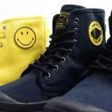 """カモフラ アンクルミニポーチ付き!PALLADIUM × SMILEY PAMPA FEST BAG """"Yellow/Black"""" (パラディウム スマイリー パンパ フェスト バッグ """"イエロー/ブラック"""")"""