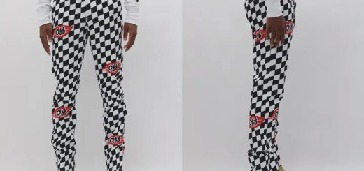 "OFF-WHITE C/O VIRGIL ABLOH 2017 F/W ""falling leaf checker pant"" (オフホワイト)"