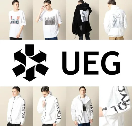 世界の都市名を袖部分にプリントで落とし込みタイベック素材を使用したUEG フーデッドジャケットが発売 (ウーサーエジェッタ)