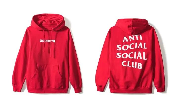 Anti Social Social Club Goodbye Hoodie (アンチ ソーシャル ソーシャル クラブ)