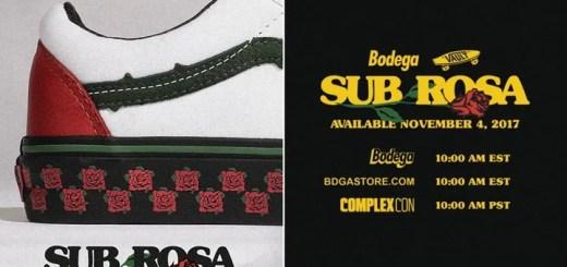 BODEGA x VANS Sub Rosaが11/4発売 (ボデガ バンズ サブ ローザ)