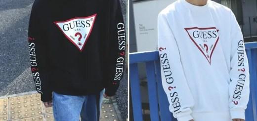 200枚/web限定!両袖にプリントされたGUESS × FREAK'S STORE 別注 スーパービッグ ロゴ クルーネックスウェットが12月上旬発売 (ゲス フリークスストア)