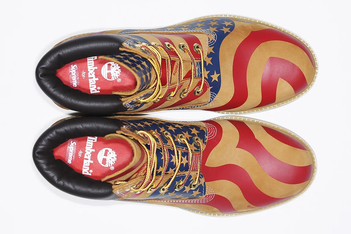 "【速報】国内11/25発売!SUPREME x Timberland 2017 F/W ""Stars and Stripes 6-Inch Premium Waterproof Boot"" (シュプリーム ティンバーランド)"