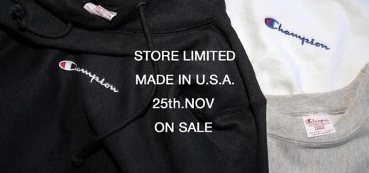 Champion 直営店限定デザイン!「MADE IN USA」シリーズからプルオーバー/クルーネック/TEEが11/25発売 (チャンピオン)