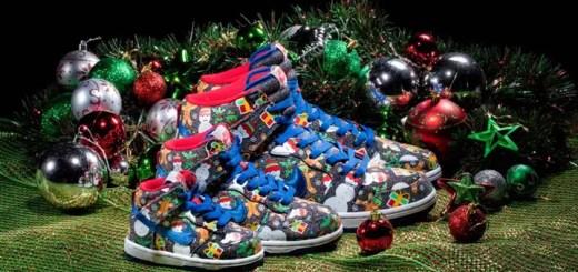 """【オフィシャルイメージ】12/2、12/7発売!コンセプツ × ナイキ SB ダンク ハイ """"アグリー クリスマス セーター"""" (Concepts NIKE SB DUNK HIGH """"UGLY CHRISTMAS SWEATER"""") [881758-446]"""