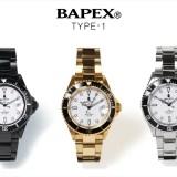 A BATHING APE オリジナルリストウォッチ「TYPE 1 BAPEX」が進化を遂げた姿で12/16から発売 (ア ベイシング エイプ)