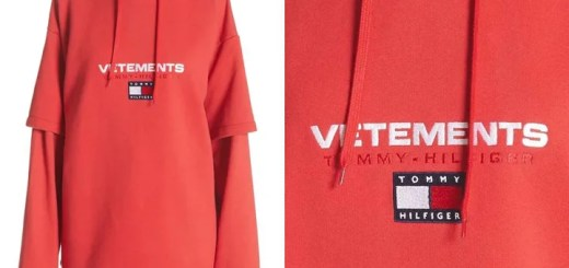 """VETEMENTS x TOMMY HILFIGER """"Double Sleeve Hoodie"""" (ヴェトモン トミー ヒルフィガー)"""
