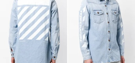 "OFF-WHITE C/O VIRGIL ABLOH 2018 S/S ""Oversized Denim Jacket ""Temperature"" (オフホワイト ""オーバーサイズ デニム ジャケット"")"