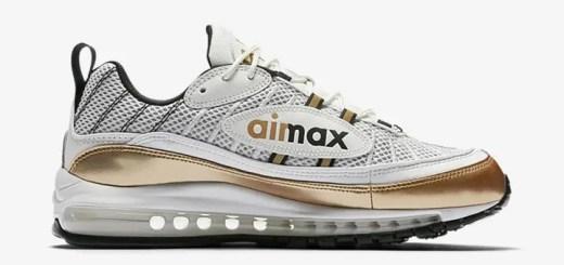 """【オフィシャルイメージ】ナイキ エア マックス 98 UK """"ホワイト/メタリック ゴールド"""" (NIKE AIR MAX 98 UK """"White/Metallic Gold"""") [AJ6302-100]"""