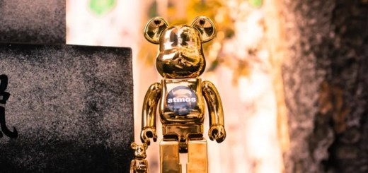 atmosとBE@RBRICKのコラボ最新作!GOLD CHROME 2サイズセットが2/10発売 (アトモス ベアブリック)