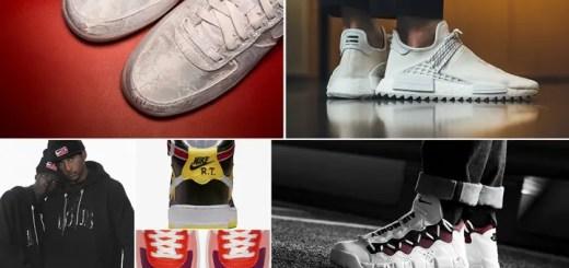 """【まとめ】2/23発売の厳選スニーカー!(CLOT NIKE AIR FORCE 1 PREMIUM """"Triple White"""")(Pharrell Williams x adidas Originals NMD TRAIL Holi """"HUMAN RACE"""" White)(NIKELAB × Riccardo Tisci """"VICTORIOUS MINOTAURS"""")(AIR MORE MONEY """"White/Red"""")他"""