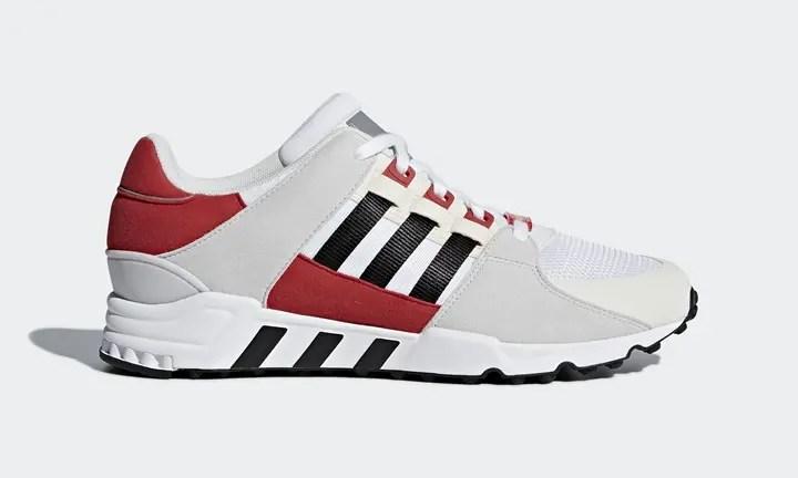 """アディダス オリジナルス エキップメント サポート RF """"ホワイト/ブラック/スカーレット"""" (adidas Originals EQT SUPPORT RF """"White/Black/Scarlet"""") [CQ2422]"""