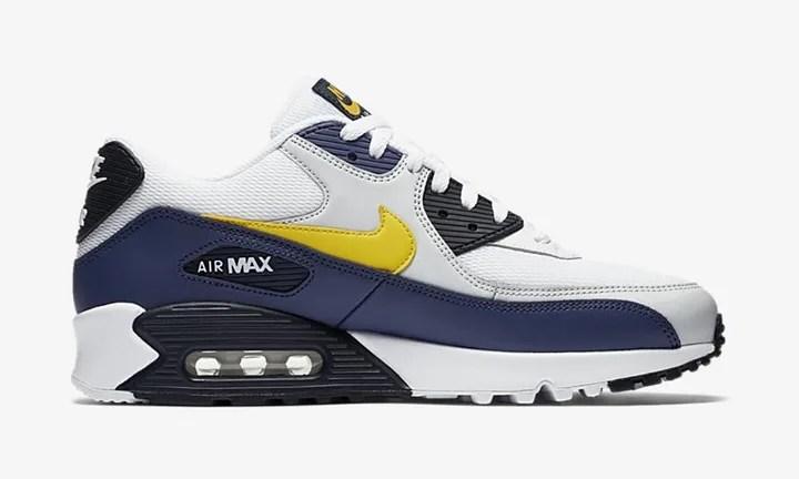 """【オフィシャルイメージ】ナイキ エア マックス 90 エッセンシャル """"ホワイト/トゥルー イエロー"""" (NIKE AIR MAX 90 ESSENTIAL """"White/Tour Yellow"""") [AJ1285-101]"""