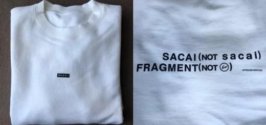 サカイ × フラグメントの新たなコラボショットがSNSにて発表 (sacai FRAGMENT TEE)