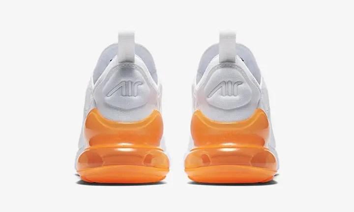 """【オフィシャルイメージ】3/26発売予定!ナイキ エア マックス 270 """"ホワイト/トータル オレンジ"""" (NIKE AIR MAX 270 """"White/Total Orange"""") [AH8050-102]"""