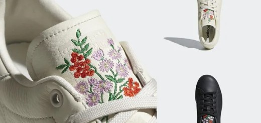シュータンに花の色刺繍をあしらったadidas Originals STAN SMITH 2カラーが3/29発売 (アディダス オリジナルス スタンスミス) [CQ2196,2197]