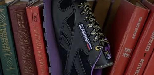 """BRANDSHOP × REEBOK CLASSIC LEATHER CN """"Black/Purple Grace"""" (ブランドショップ リーボック クラシック レザー CN """"ブラック/パープル グレース"""") [CN7861]"""