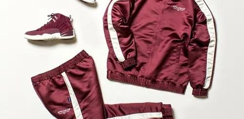 APPLEBUMから80年代の雰囲気を醸し出す光沢のある質感が特徴のサテントラックジャケット/パンツが発売中 (アップルバム)
